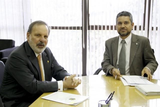 Senador reuniu-se com presidente da Codevasf para discutir ações como a ampliação do Canal do Sertão e a instalação do escritório da entidade em Ouricuri