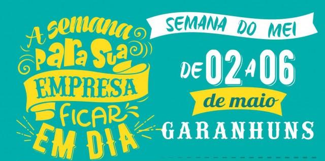 SEMANA DO MEI GARANHUNS CARTAZ2016